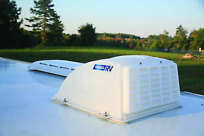 Roof Vent Cover White Camper RV Trailer Top Travel Rain Air Wind Lid Parts Camco