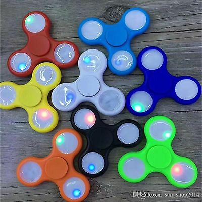 Flash Luminous Spinner Led Light Hand Fidget Finger Glow Adhd Relieve Stress Toy