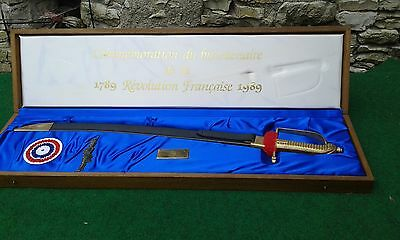 rarely sword M1767 commemorative Of the Bicentennial of the French Revolution