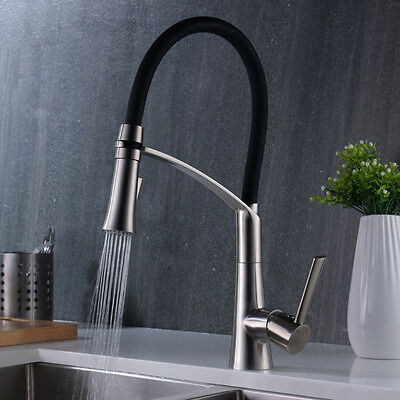 Pull Down Kitchen Faucet With Sprayer / FlexibleMixer Tap in Stainless steel