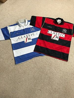 Signed QPR home shirt by entire squad & Away shirt (not signed) 1995/96 season