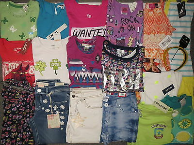 NWT Girls Summer Clothes Lot M 10 10/12 Disney Nautica Arizona TCP Outfits Sets