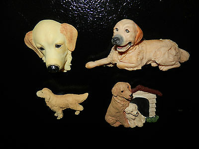 Lot of 4 Collectible Golden Retriever Refrigerator Magnets (D)