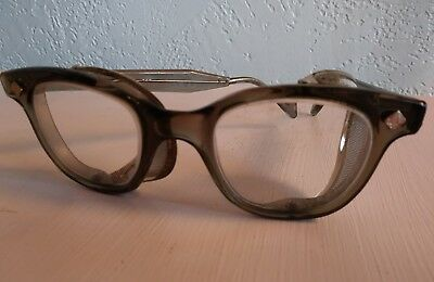 vintage safety glasses with side mesh. steampunk