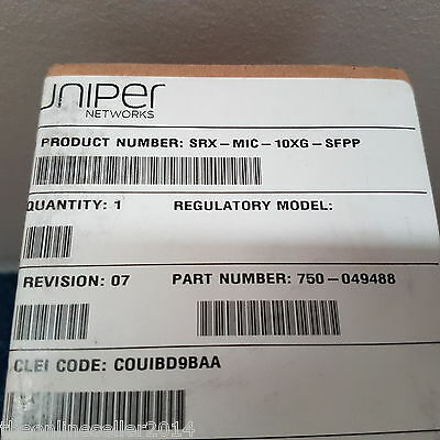Juniper SRX-MIC-10XG-SFPP New in box
