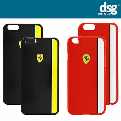 f852ee5c7537b0 Official Ferrari Scuderia Glossy Hard Back Case Cover for iPhone 6 6s + Plus