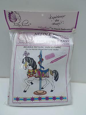 Pretty Punch Embroidery Kit Needle Carnival Horse KP9700 Dial A Loop '92 New