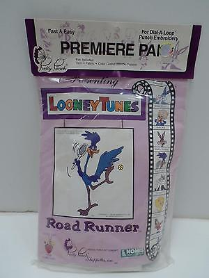 Pretty Punch Embroidery Kit Dial A Loop Looney Tunes Road Runner New Nomis LT05B
