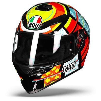 AGV K-3 SV Elements Valentino Rossi Full Face Motorcycle Helmet - Free Shipping