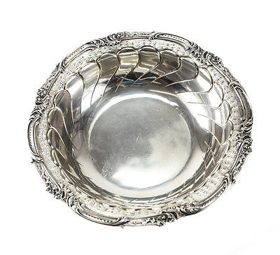 C. Heisler-Manheim German 800 Silver Serving Bowl, circa 1900. Scalloped Design