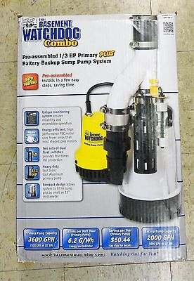 Basement Watchdog 1/3 HP Combo Emergency Backup Sump Pump System, DFK961, NEW!
