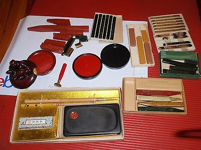 Lot Of Chinese Sealing  Wax And Seals And Accessories