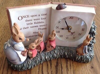 Tale Of Peter Rabbit Collectible Clock World Of Beatrix Potter Charpente Rare'97