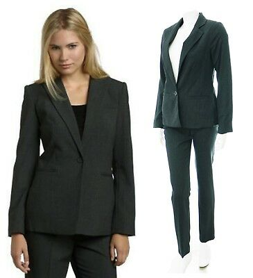 Womens New Grey Lined Blazer With Trouser Suit Bnwt Size 14 16 18 20 *LICK*