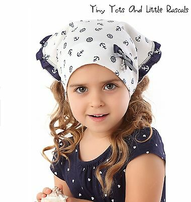 Infant Girls Toddlers Spring Cotton Summer Head Scarf Wrap Size 6 - 24 mths