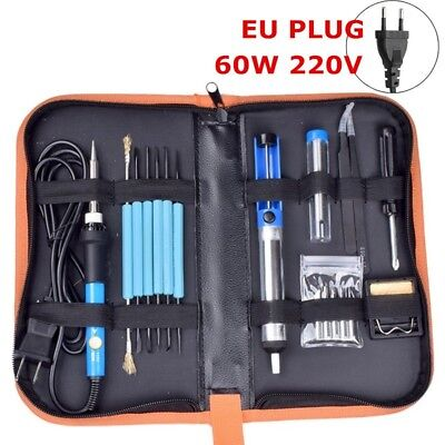 220V 60W Soldering Solder Iron Kit Adjustable Temperature Electronic Repair Tool