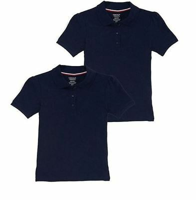Boys French Toast Polo Shirt 2 pack XS 4 5 Navy Uniform