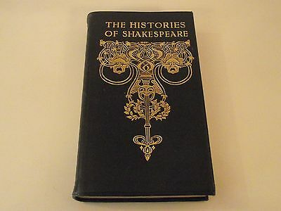 The Histories Of Shakespeare  - Histories And Poems - Leather Binding - Simpkin