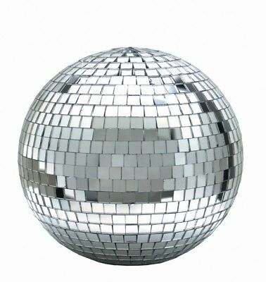 "Large 12"" Mirror Glass Disco Ball DJ Dance Home Party Bands Club Stage Lightning"