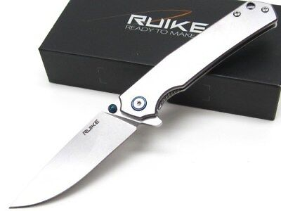 RUIKE Stainless STONEWASH P801 Straight Folding FRAMELOCK Pocket Knife! P801-SF