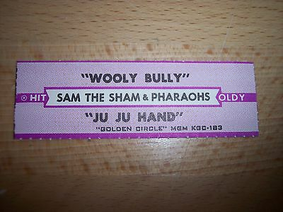 """1 Sam The Sham Wooly Bully Jukebox Title Strips CD 7"""" 45RPM Records"""