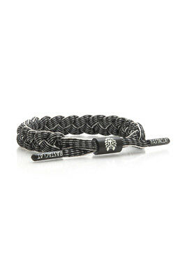 RASTACLAT Highway Black with white Reflective 3M trim Shoelace Bracelet NEW
