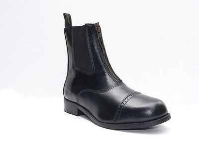 Gallop Leather Front Zip Paddock Jodhpur Boots All sizes
