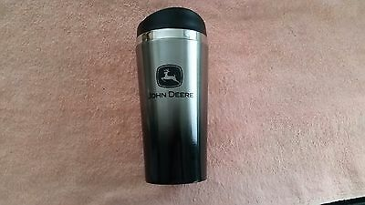 John Deere Black/Silver Insulated Travel Mug