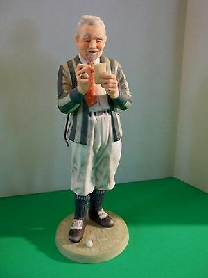"""Golf Figurine, OLD MAN TRACY 1986 Norman Rockwell Museum Quality Figurine 8.5 """""""