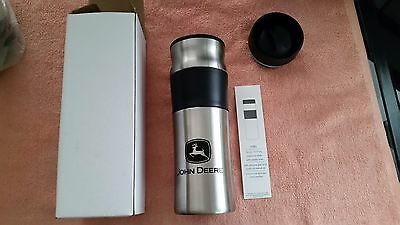 John Deere Twist Top Black/Silver Insulated Travel Mug