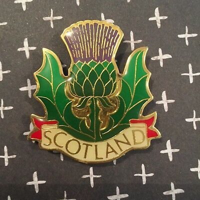 Scotland Thistle Metal Vintage Fridge Magnet