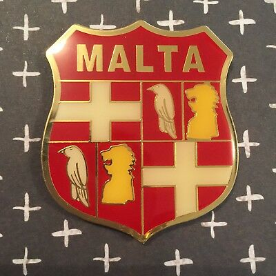 Malta Emblem Shield Metal Vintage Fridge Magnet
