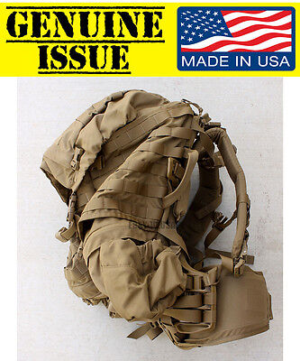 USMC FILBE Main Pack w/ Frame HIP BELT BACKPACK RUCKSACK US MARINE coyote USGI