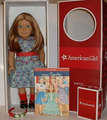 American Girl Doll  Emily Bennett  Retired With Box + Accessories Molly's Friend