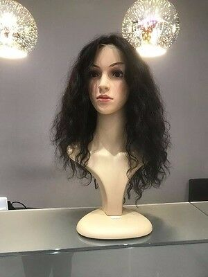 Gorgeous full brown curly natural brown/black brazilian human hair lace wig