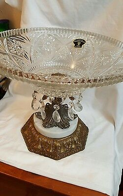 Genuine ''MONARCH'' Crystal compote made in West Germany