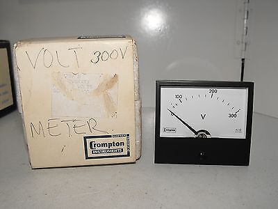 "Crompton 300 Volt Panel Meter Tested & Working ""New old Stock"""