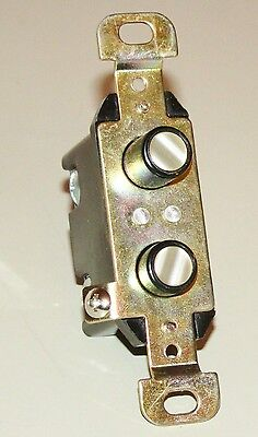 Mother of Pearl Inlay Double Push Button Light Switch Wall Switch - New - S93W