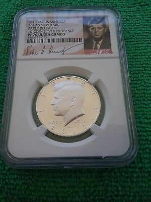 Sale!! Perfect 2017 S Silver Kennedy Half Dollar Signature Ngc Certified Pf 70