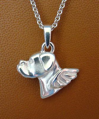 Small Boxer Angel Pendant