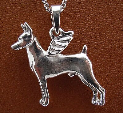 Miniature Pinscher Angel Pendant