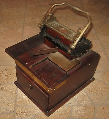 Antique Machine rubber letter block stamp printing press Gibson 1912 vintage