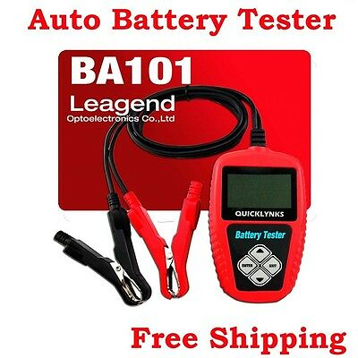QUICKLYNKS BA101 Automotive Battery Tester LCD Display 12V Battery Life Analysis