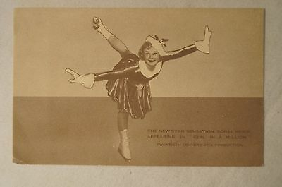 COLLECTABLE - Vintage Postcard - Girl in a Million - Sonja Henie.