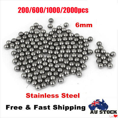 200/600/1000/2000pcs Steel Replacement Parts 6mm Bike Bicycle Steel Ball Bearing