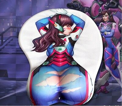 OW Overwatch Game 3D Silica Gel Butt,Breast,Chest Mouse Pad for Gaming
