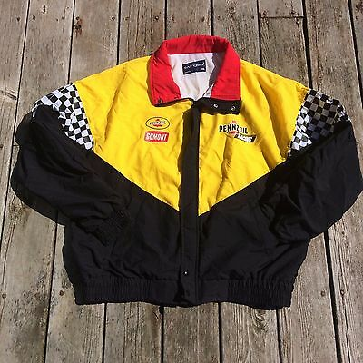 Pennzoil Racing Jacket Gumout Yellow Black Spring Coat Swingster XL Made In USA
