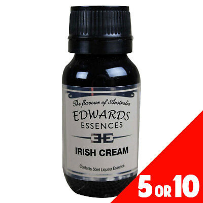 5 or 10 Pack Liqueur Essence Flavour IRISH CREAM 50ml Edwards Essence Home Brew
