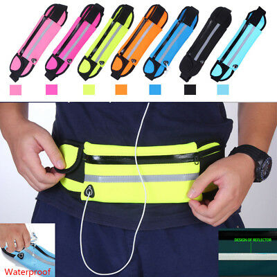 Running Waist Bum Bag Belts Waterproof Sport Pouch Fanny Pack Waterproof Cycling