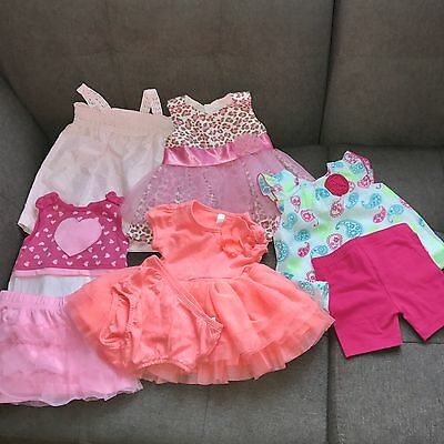 Baby Girl 3-6 Months Lot 5 Outfits Tutu Bonnie Baby